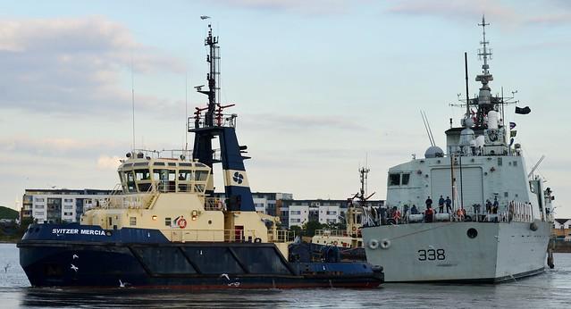 HMCS Winnipeg (1) @ Gallions Reach 19-09-15