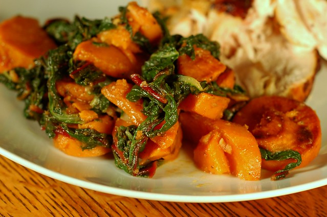 Sweet Potatoes & Winter Greens by Eve Fox, Garden of Eating blog