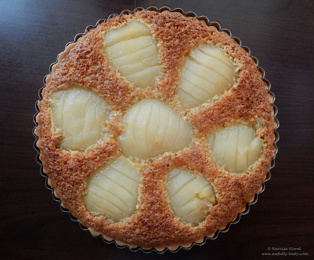 tarta frangipane cu pere posate