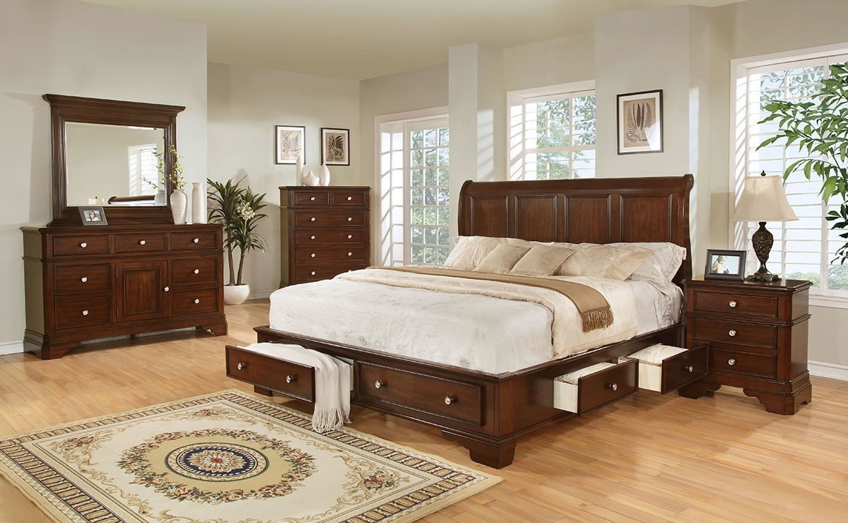 Bedroom sets all american mattress furniture for Lifestyle furniture