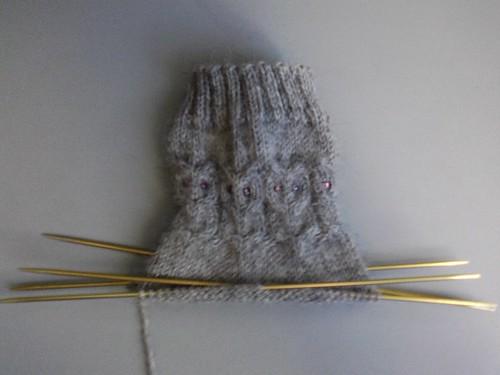 Owl Sock's wip