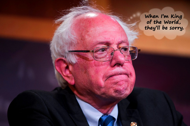 Bernie Often Daydreams About Ruling The World