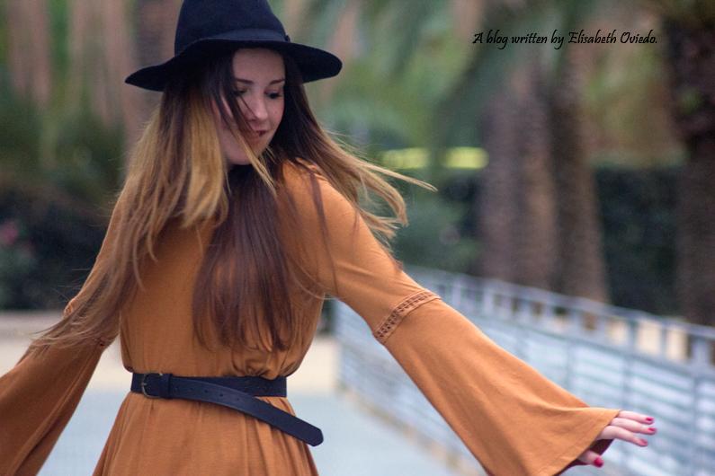 Vestido mostaza PULL AND BEAR INDITEX OTOÑO 2015 HEELSANDROSES (5)