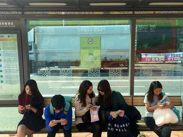 Bus stop in Seoul
