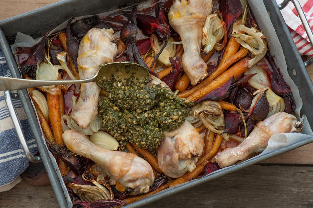m3. Roast Pesto Chicken & Baby Veg