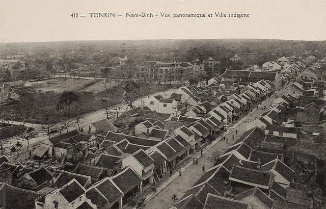 NAM DINH - vue panoramique et ville indigene