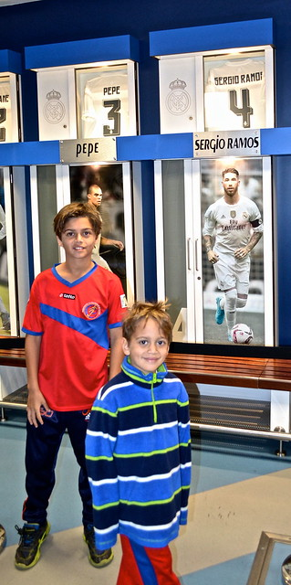 lockers - Real Madrid Stadium Tour - Tour Bernabeu