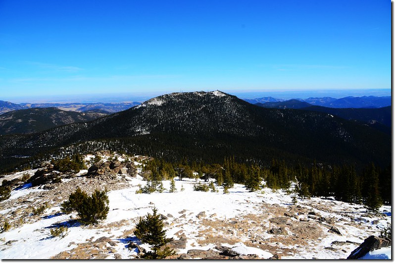 Squaw Mountain as seen from the summit of Chief Mountain
