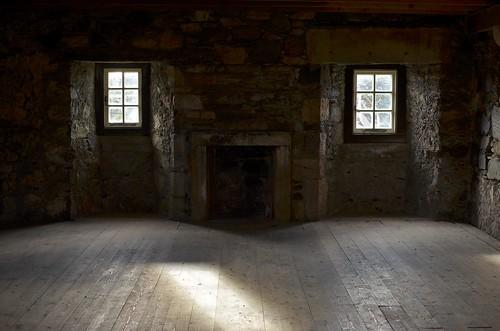 Inside Dunstaffnage Castle
