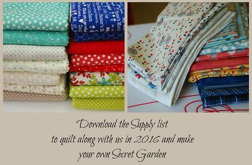 Pat Sloan my secret garden fabric button