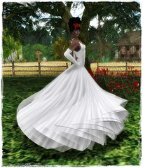 LC-Ayla Ballgown with Applier - silver-FREEBIE