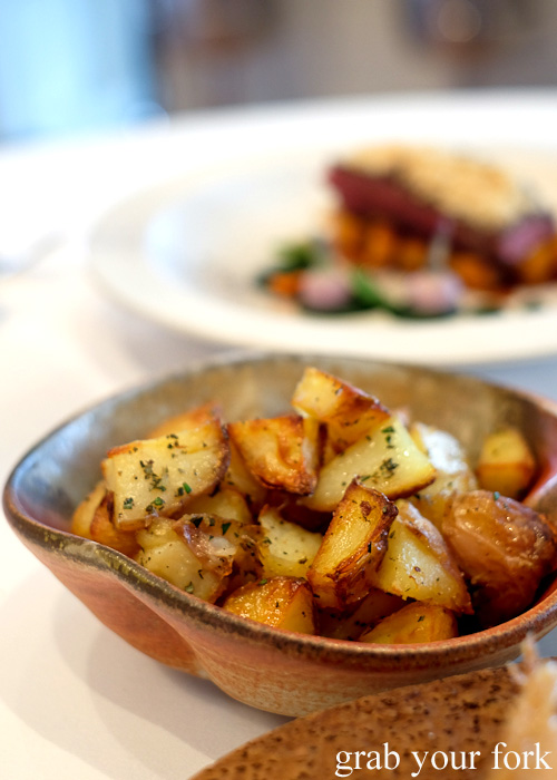 roasted potatoes by Pilu at Freshwater, Sydney