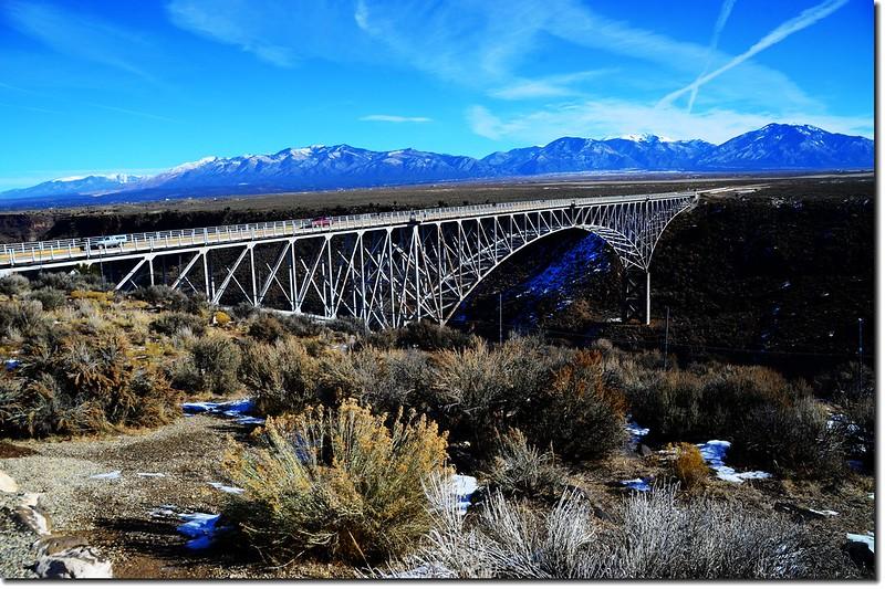 Rio Grande Gorge Bridge from the rest area 6