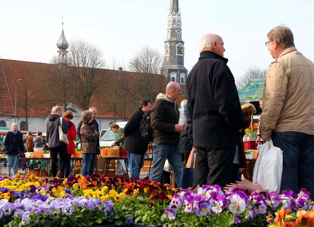 Ein Klönschnack auf'm Markt