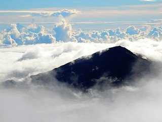 Sea of clouds in Haleakala National Park