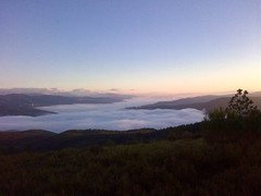 Low cloud cover over the Zezere valley