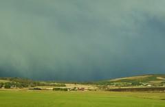 Sleet falling over Aberdeenshire