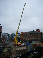 Manchester City Centre - building work near to Deansgate Locks