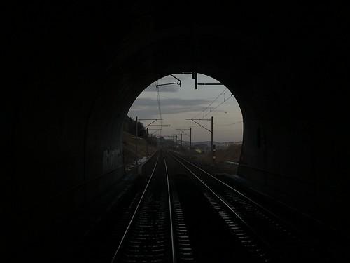 Ausfahrt Vauderens-Tunnel
