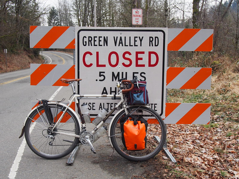 Green Valley Road Closure: After going around the closure, I backtracked to here.