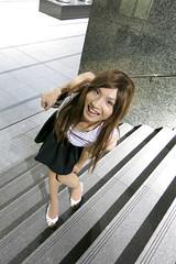 Sleeveless top and Navy miniskirt_9_End