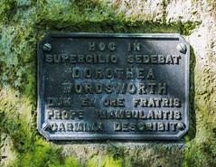 Photo of Dorothy Wordsworth bronze plaque