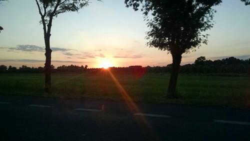 sunset europe poland mazowieckie sochaczew masovianvoivodeship novasucha gminanowasucha