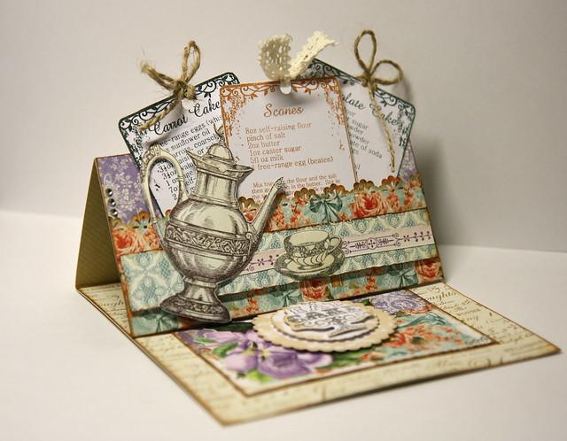 Botanical Tea Easel Card by StickerKitten
