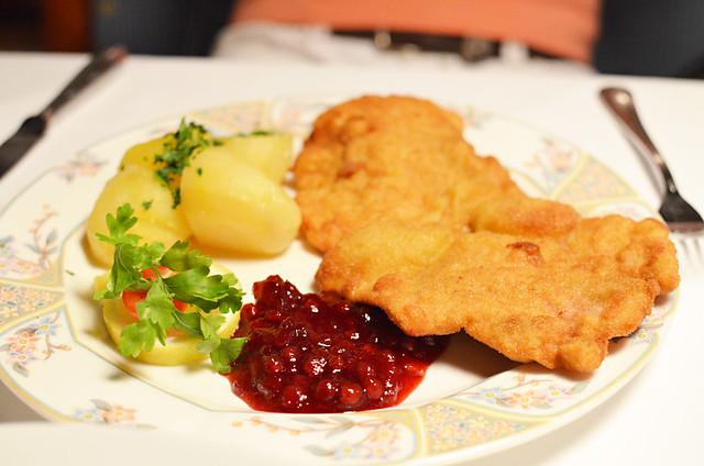 Weiner schnitzel, Leutasch, Austria