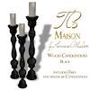 Tres Maison Wood Candlestick Black