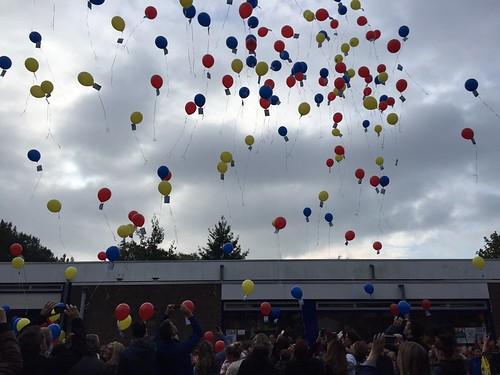 Heliumballonnen 25 jaar Montessorischool Spijkenisse