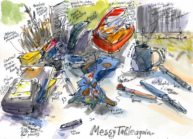 Sketchbook #92: Mess on my table