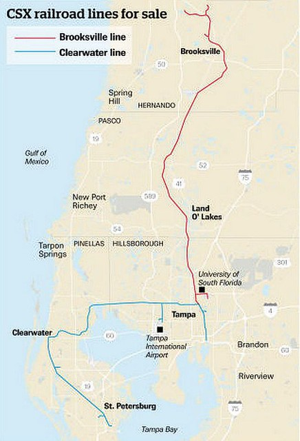 Change may be coming to two Tampa Bay area rail lines