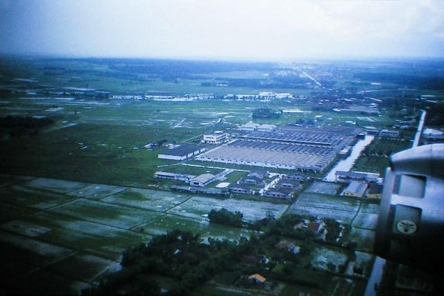 SAIGON 1965 - Bird's-eye view of Vinatexco textile mill factory - Nay là NHÀ MÁY DỆT THẮNG LỢI gần đầu phi trường TSN