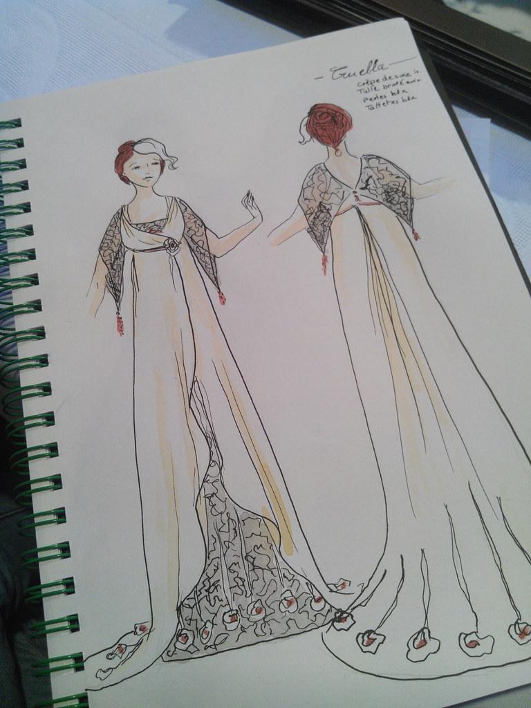 Projet de robe de mariée alternative pour la collection 2016