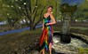 Rock Your Rack 2015_Dulce Secrets (Ember Shape model), Vero Modero (Aylin Dress Rainbow), LoveMe Skin (Bold Red Lipstick) & Look Me (Arus Clutch Blue) by Hidden Gems in Second Life (Interior Designer)