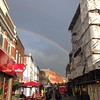 A moment ago in Maidenhead... Love the rainbow, don't like the fact that I will get wet on my bike... #rain #rainbow #maidenhead #izabelamotyl