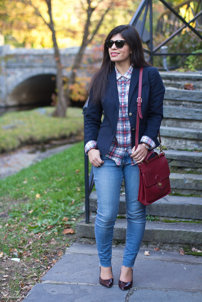 plaid shirt, navy blazer, red willis bag-18.jpg
