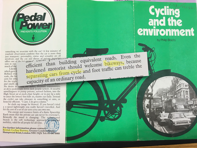 Cycling and the Environment, British Cycling Bureau, 1977