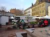 Rachel selling at Vianney's stall, France