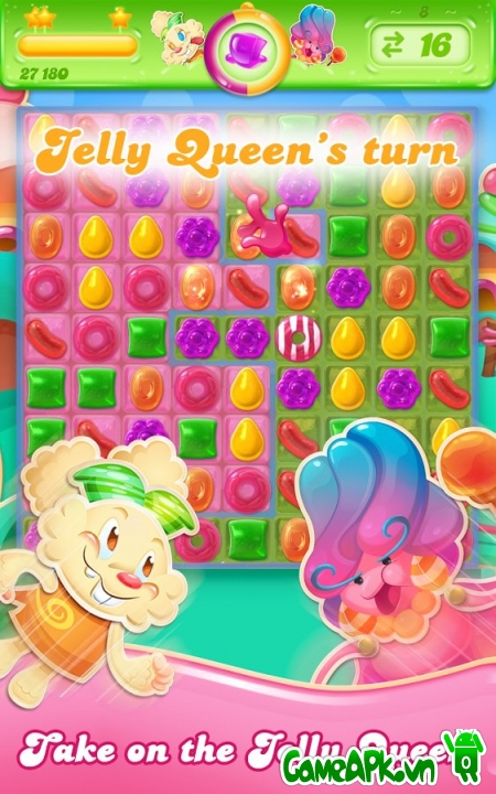 Candy Crush Jelly Saga v1.7.2 hack full cho Android