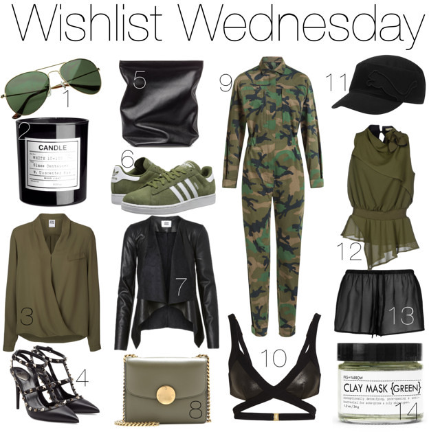 military inspired fashion wishlist ft. Adidas, Agent Provocateur, Marc Jacobs I www.StyleByCharlotte.com