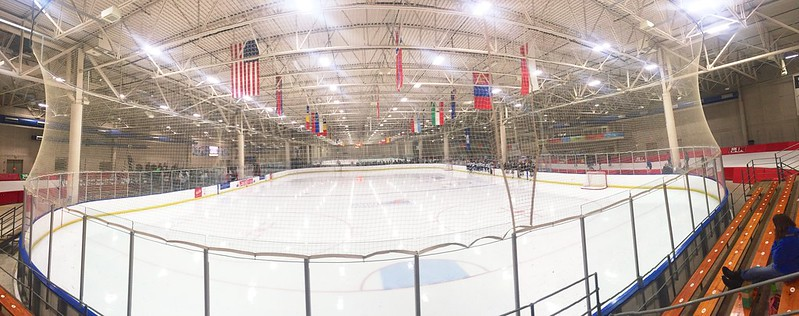 337/365. the first day of a hockey tournament at the pettit national ice center.