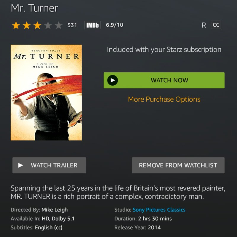 Mr. Turner 2014: 10 Great movies that you need to watch and celebrate New Year's Eve
