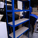 Bays of metal racking