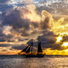 Boat on Key West at Sunset by ..Adnan