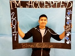 Congratulations to Frank Rodriguez who got accepted to Blinn College in Brenham, Texas! #CollegeBound #CollegeBoundBulldogs #Somerset2017