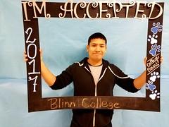 Congratulations to Frank Rodriguez who got accepted to Blinn College in Brenham, Texas! #CollegeBound #CollegeBoundBulldogs #Somerset2017