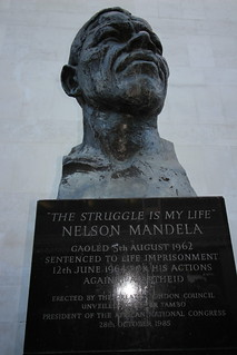 Image of Nelson Mandela.