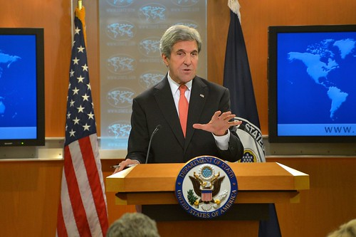 Secretary Kerry Holds a Press Conference in Washington